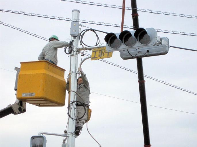 交通信号機工事